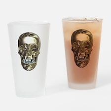 Chrome Skull Drinking Glass