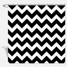 Chevron Black and White Shower Curtain