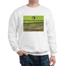 green and gold water droplet Sweatshirt