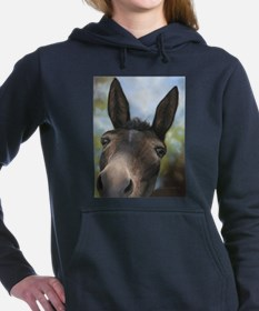 Brown Mule Art by Dawn Secord Women's Hooded Sweat