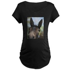 Brown Mule Art by Dawn Secord Maternity T-Shirt