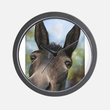Brown Mule Art by Dawn Secord Wall Clock
