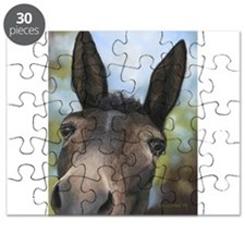 Brown Mule Art by Dawn Secord Puzzle