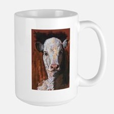 Hereford Calf by Dawn Secord Mugs