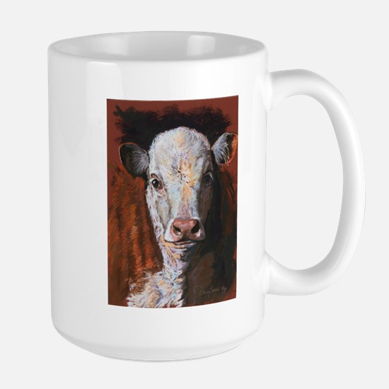 Hereford Calf by Dawn Secord Mugs