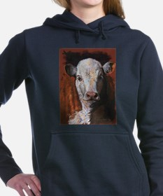 Hereford Calf by Dawn Secord Women's Hooded Sweats