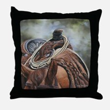 Roping Horse by Dawn Secord Throw Pillow