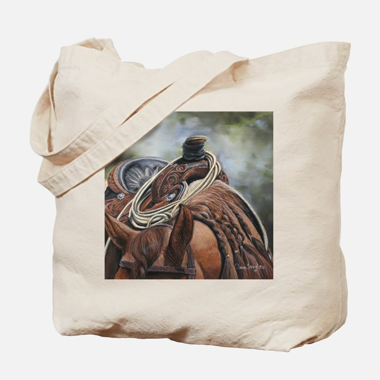 Roping Horse by Dawn Secord Tote Bag
