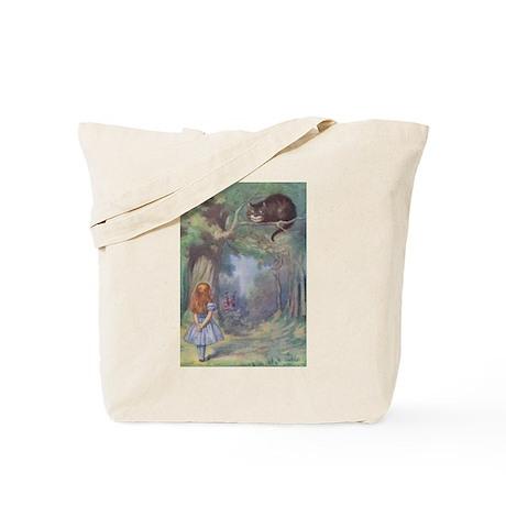 Alice & Cheshire Cat - Tote Bag