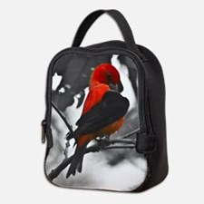Scarlet Tanager Neoprene Lunch Bag