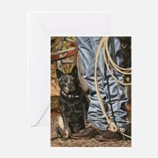 Australian Cattle Dog by Dawn Secord Greeting Card