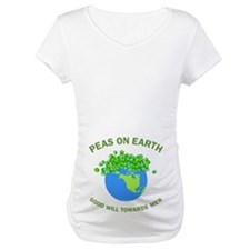 Peas on Earth Belly Image Shirt