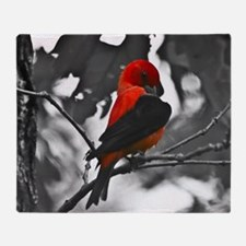 Scarlet Tanager Throw Blanket