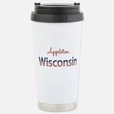 Custom Wisconsin Stainless Steel Travel Mug