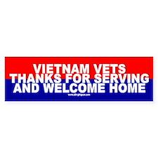 Thanks Vietnam Vets Bumper Bumper Sticker