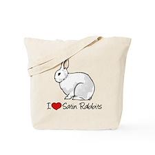 I Heart Satin Rabbits Tote Bag
