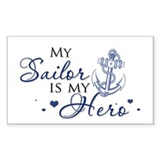 My Sailor is my Hero Rectangle Decal