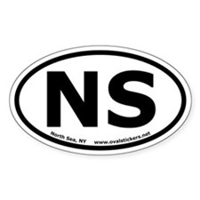 North Sea, New York Oval Decal
