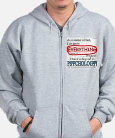 Psychology Degree Zip Hoody