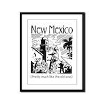 Vintage NEW MEXICO Framed Panel Print