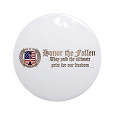 Honor the Fallen – Crest Ornament (Round)