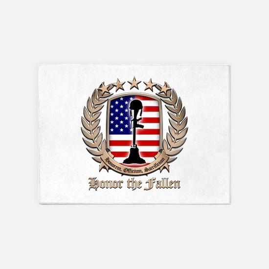 Honor the Fallen – Crest 5'x7'Area Rug