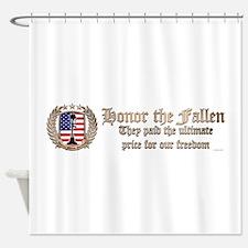 Honor the Fallen – Crest Shower Curtain