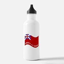 Waving Taunton Flag Water Bottle
