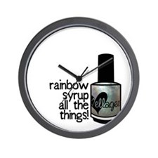 Rainbow Syrup Wall Clock