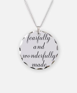 Fearfully and Wonderfully Made Script Necklace