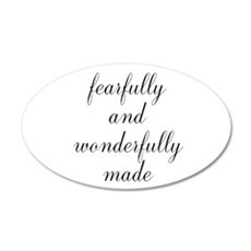 Fearfully and Wonderfully Made Script Wall Decal