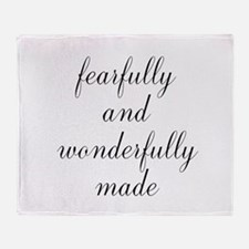 Fearfully and Wonderfully Made Script Throw Blanke