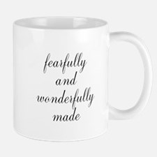 Fearfully and Wonderfully Made Script Mugs