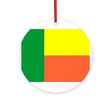 Benin Flag Ornament (Round)