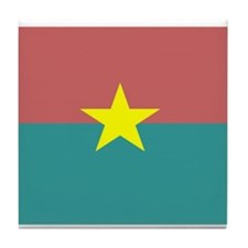 Burkina Faso Flag Tile Coaster