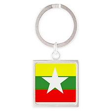 Burma Flag Keychains