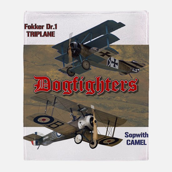 Dogfighters: Triplane vs Camel Throw Blanket