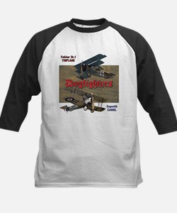 Dogfighters: Triplane vs Came Kids Baseball Jersey