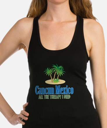Cancun Mexico - Racerback Tank Top