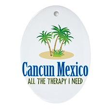 Cancun Mexico - Ornament (Oval)