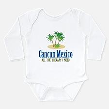 Cancun Mexico - Long Sleeve Infant Bodysuit