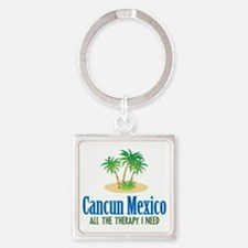 Cancun Mexico - Square Keychain