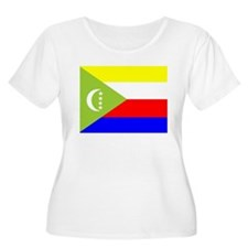 Comoros Flag Plus Size T-Shirt