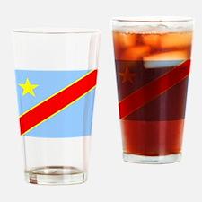 Congo Democratic Republic Flag Drinking Glass