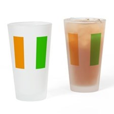 Cote DIvoire Flag Drinking Glass