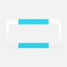 Honey Bee on Teal Polka Dots 2 License Plate Holde