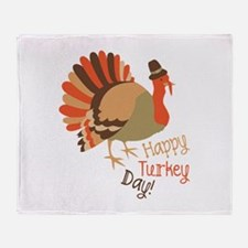 Happy Turkey Day! Throw Blanket
