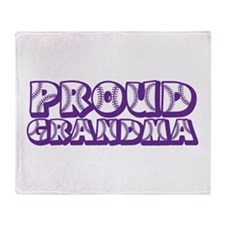 Proud Grandma Throw Blanket