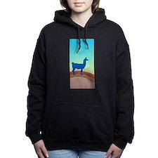Sunrise Hills Llama tl7xl Women's Hooded Sweatshir