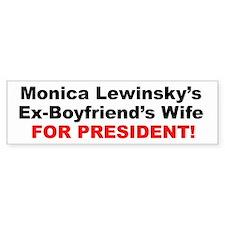 Cute Monica lewinsky Bumper Sticker